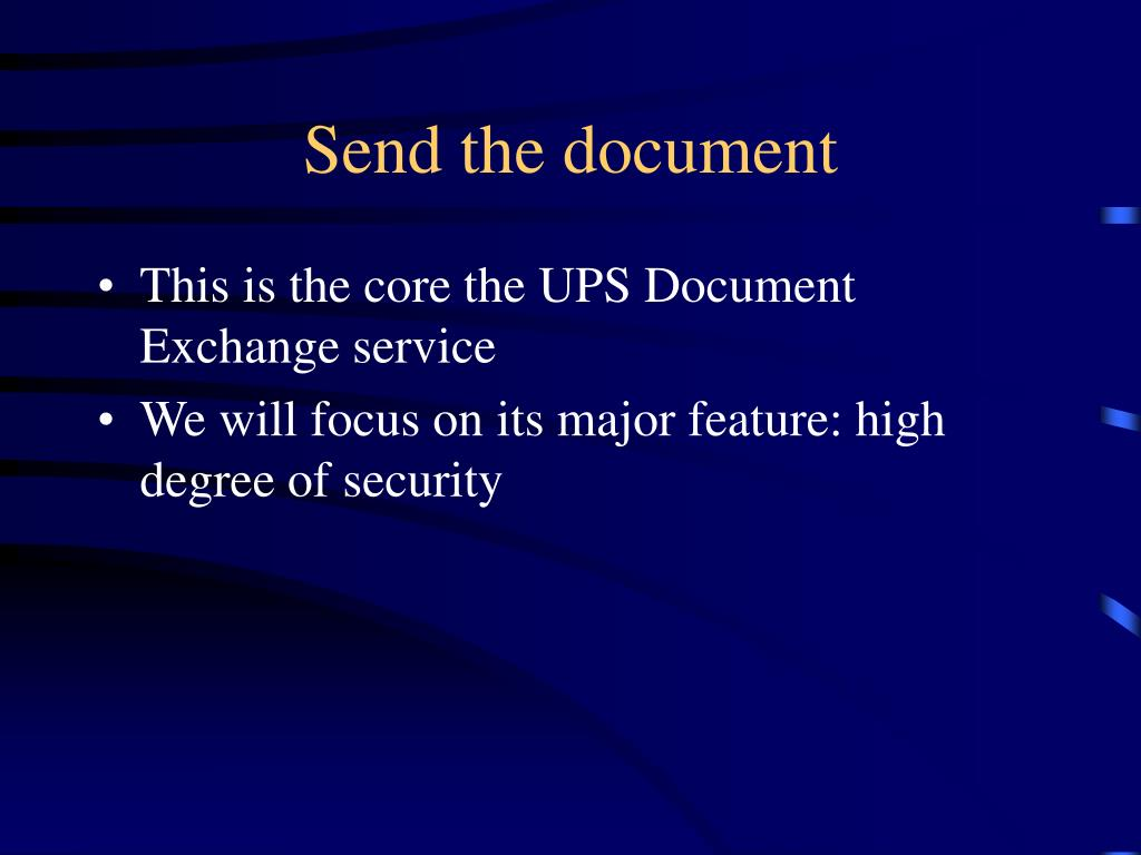 Send the document