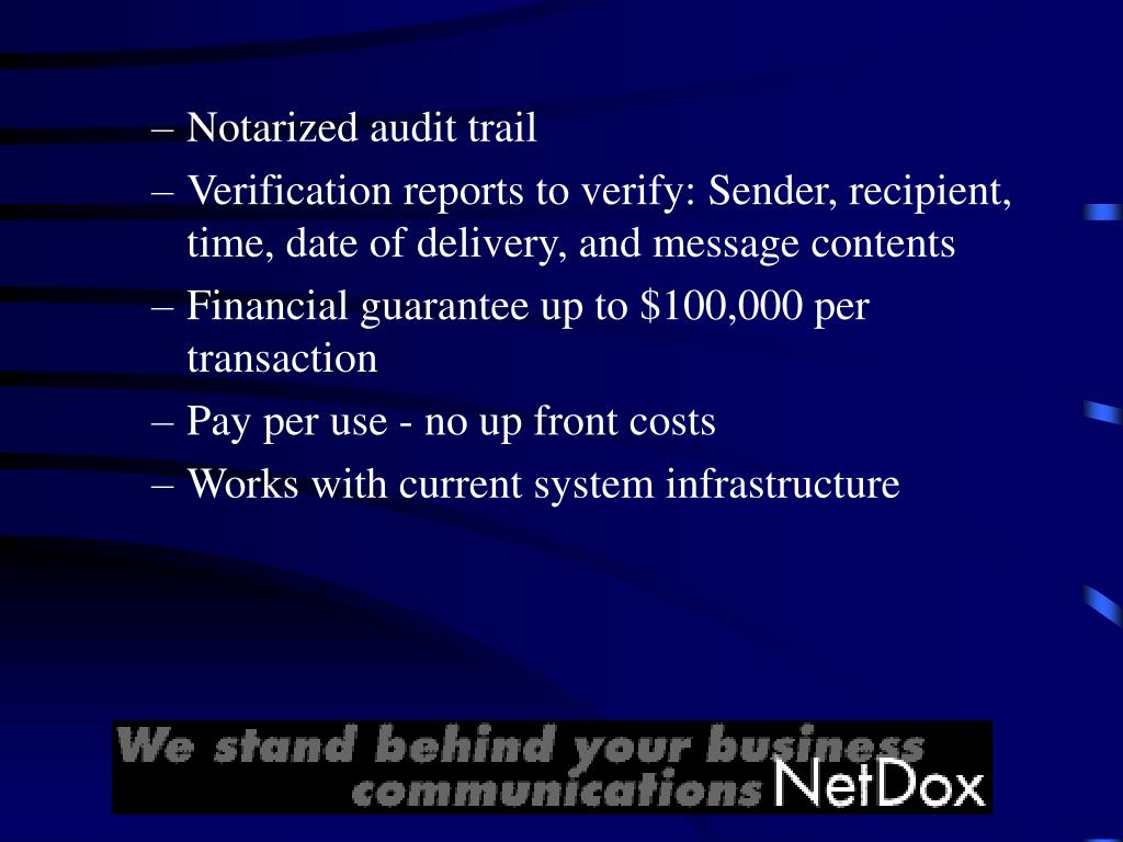 Notarized audit trail