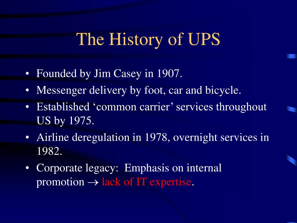 The History of UPS
