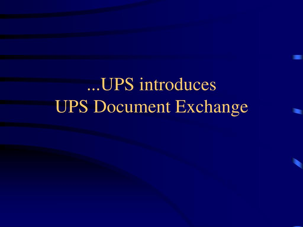 ...UPS introduces