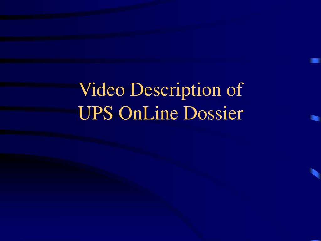 Video Description of