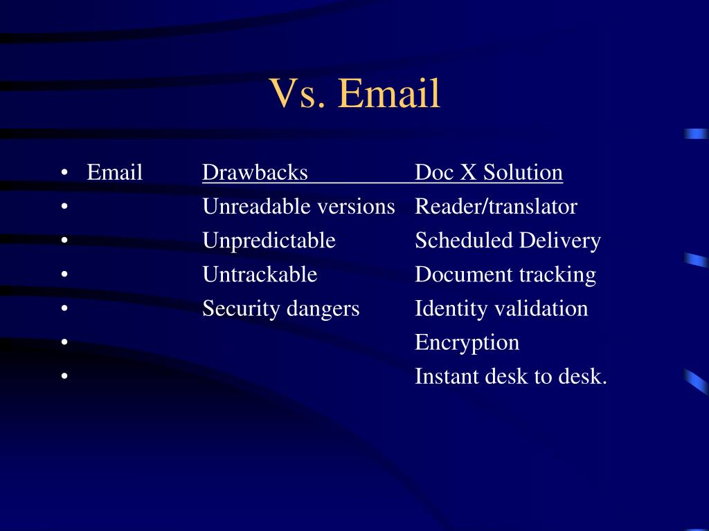 Vs. Email