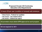 proposed circular 230 continuing education ce requirements