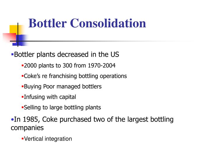 cola wars compare economics of concentrate business to bottlers 2compare the economics of the concentrate business to the bottling business: why is profitability so different  cola wars: for coca-cola's perspective overview there is little doubt that the most spirited and intense competition in the beverage world is between coca-cola and  both concentrate producers (cp) and bottlers are profitable.