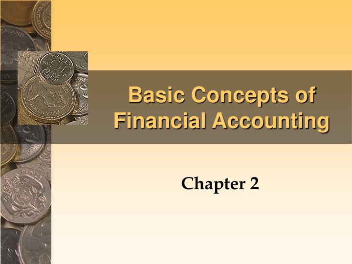 basic concepts of financial accounting n.