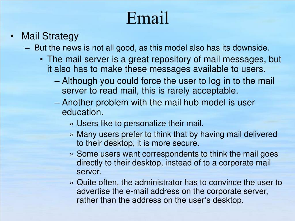 Mail Strategy