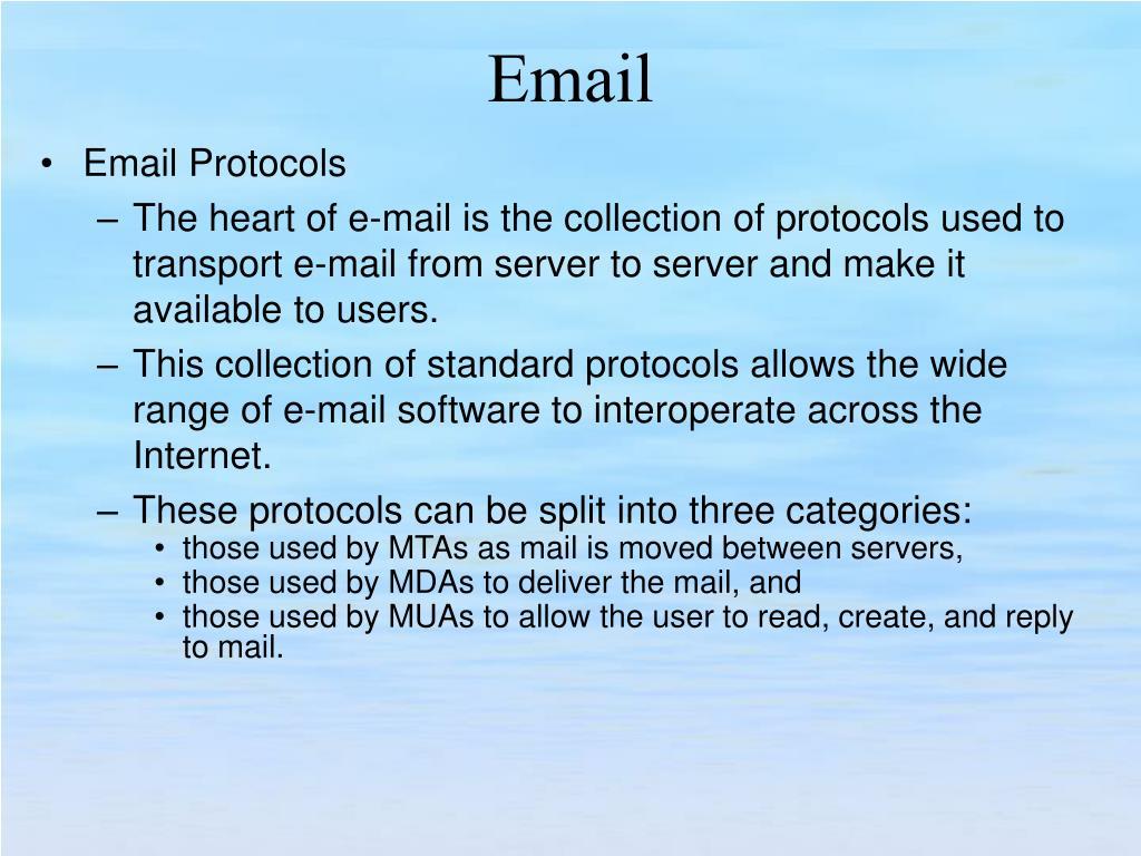 Email Protocols