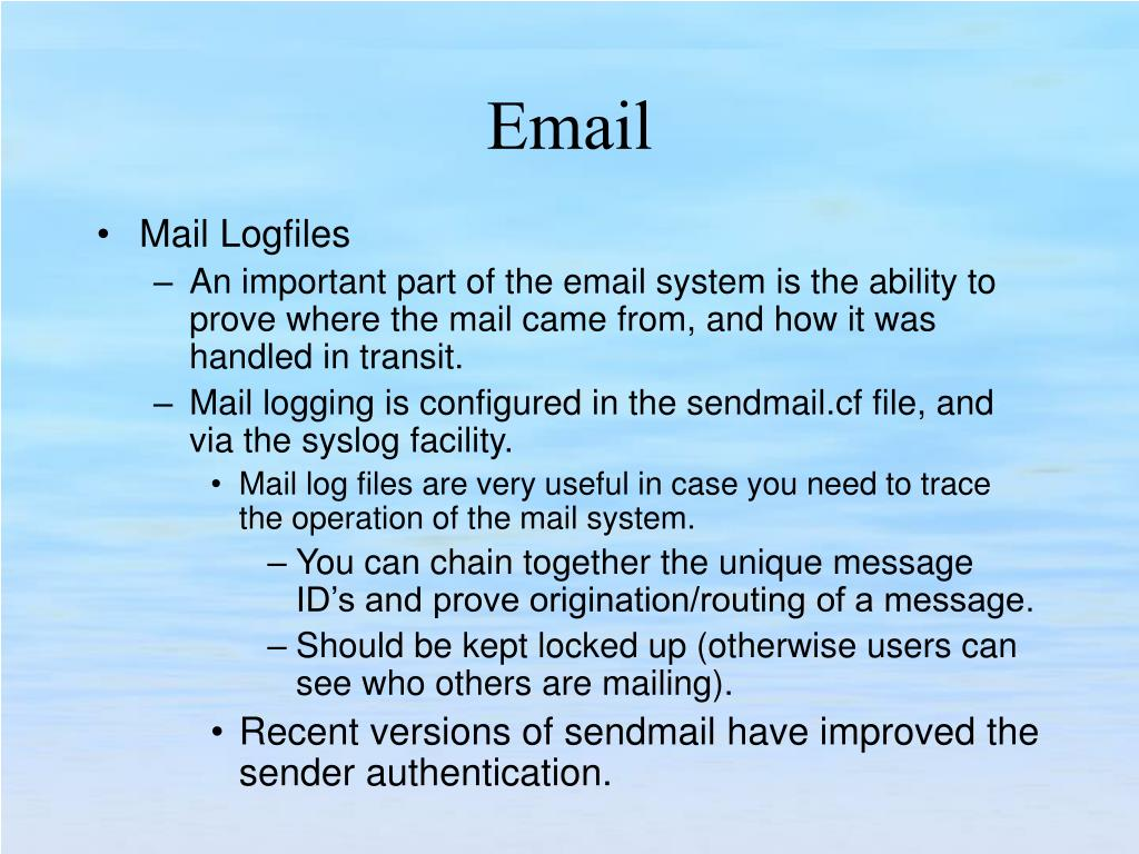 Mail Logfiles