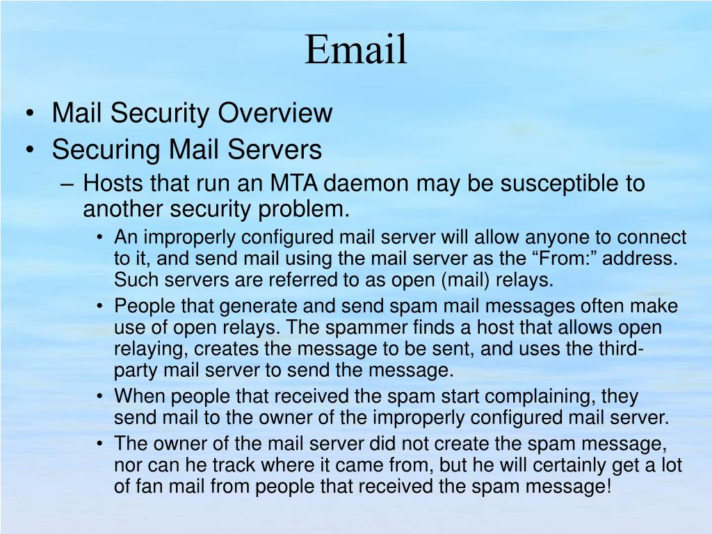 Mail Security Overview
