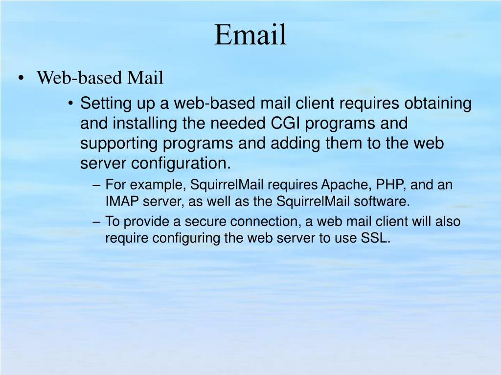 Web-based Mail
