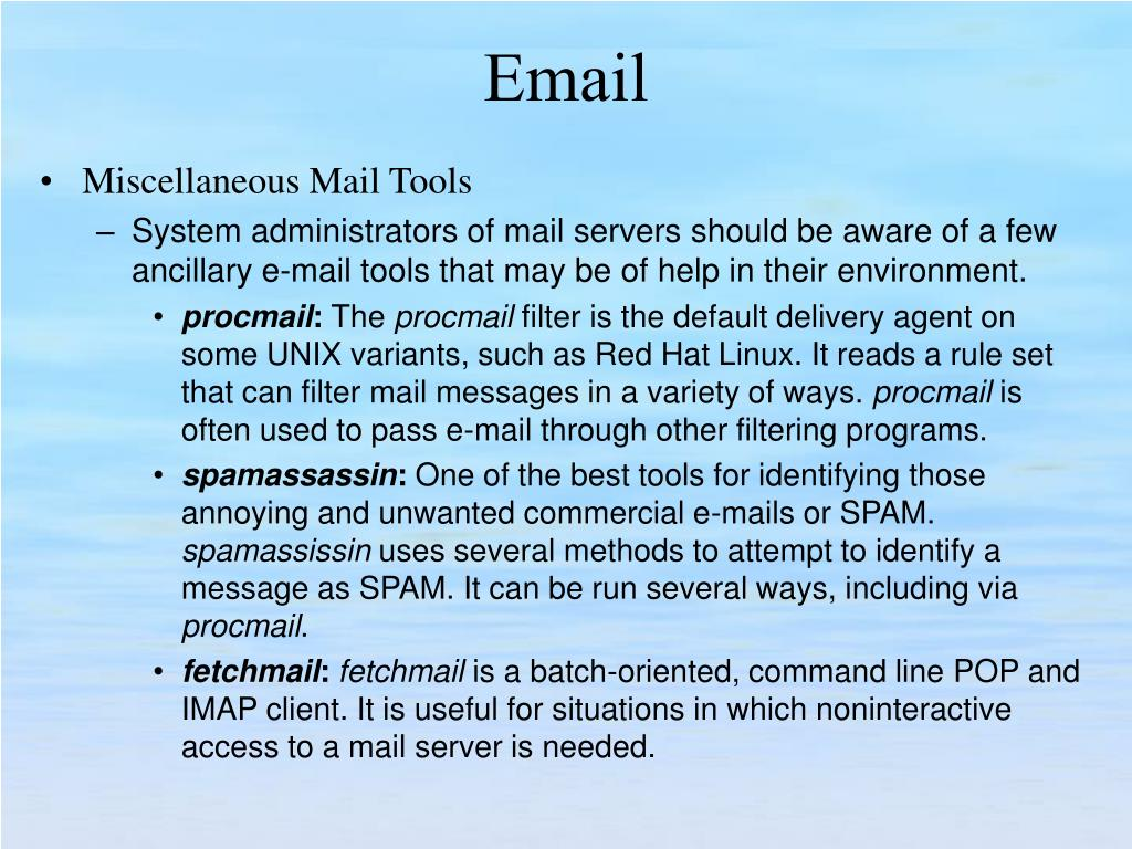 Miscellaneous Mail Tools