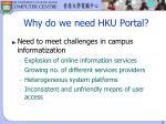 why do we need hku portal