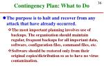 contingency plan what to do