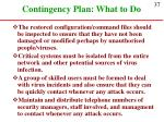 contingency plan what to do37