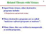 related threats with viruses