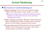 system monitoring