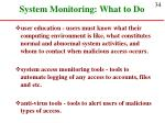 system monitoring what to do