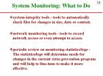 system monitoring what to do35