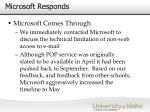 microsoft responds