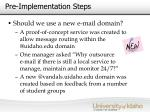 pre implementation steps21