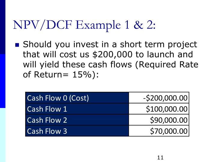 NPV/DCF Example 1 & 2: