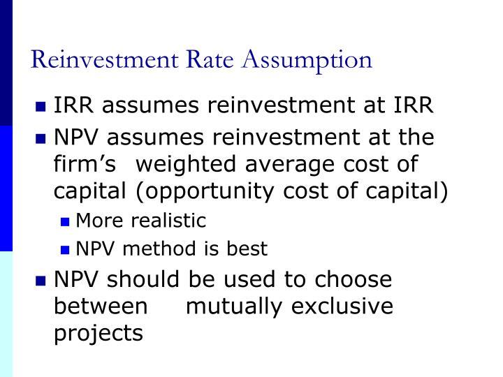 Reinvestment Rate Assumption