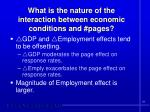 what is the nature of the interaction between economic conditions and pages