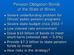 pension obligation bonds of the state of illinois