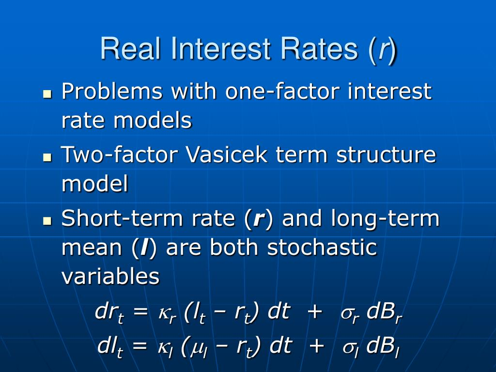 Real Interest Rates (