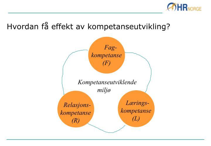 Hvordan få effekt av kompetanseutvikling?