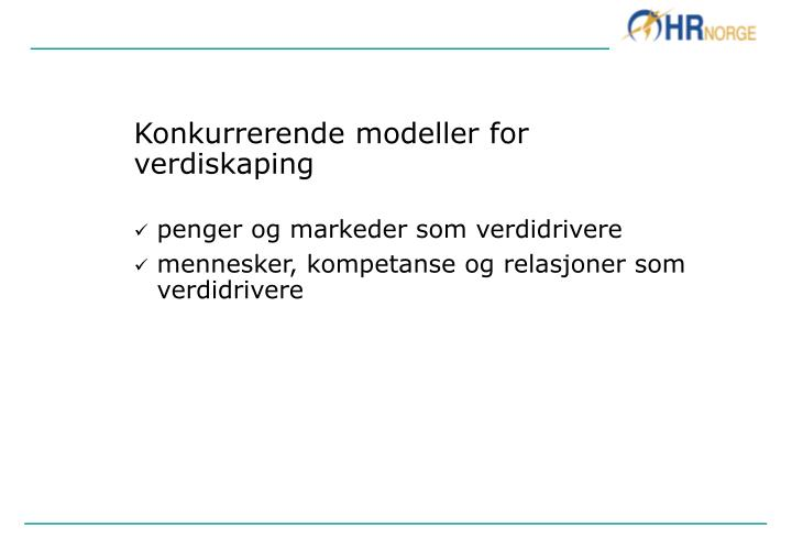 Konkurrerende modeller for verdiskaping
