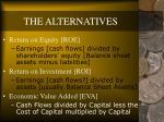 the alternatives