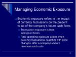 managing economic exposure