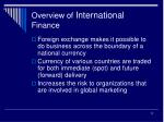 overview of international finance