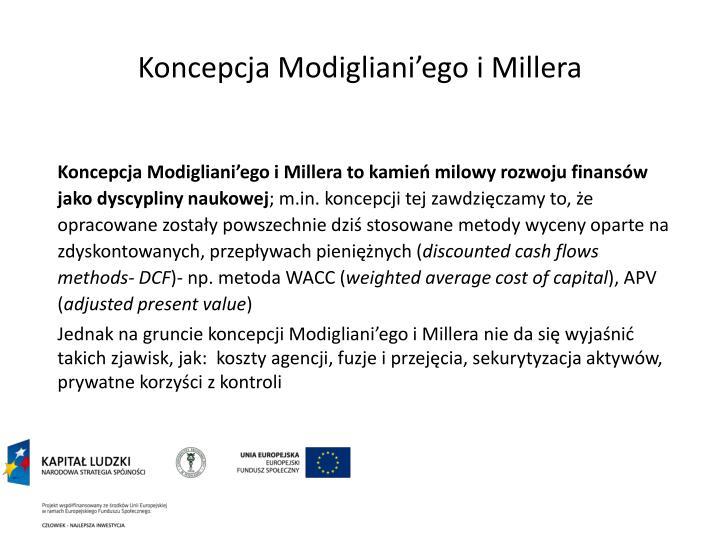 Koncepcja Modigliani'ego i Millera