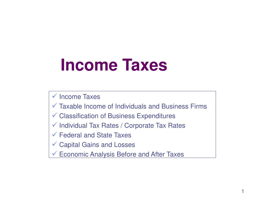 income taxes l.