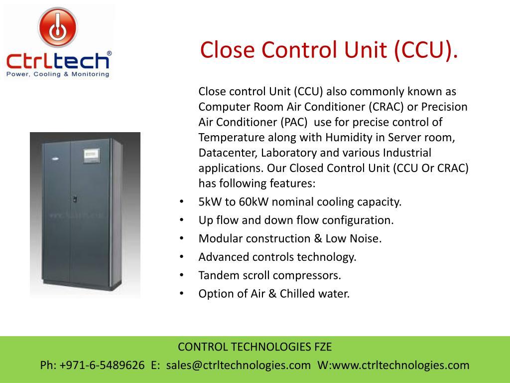 PPT - Close Control unit  CCU  CRAC  Precision Air