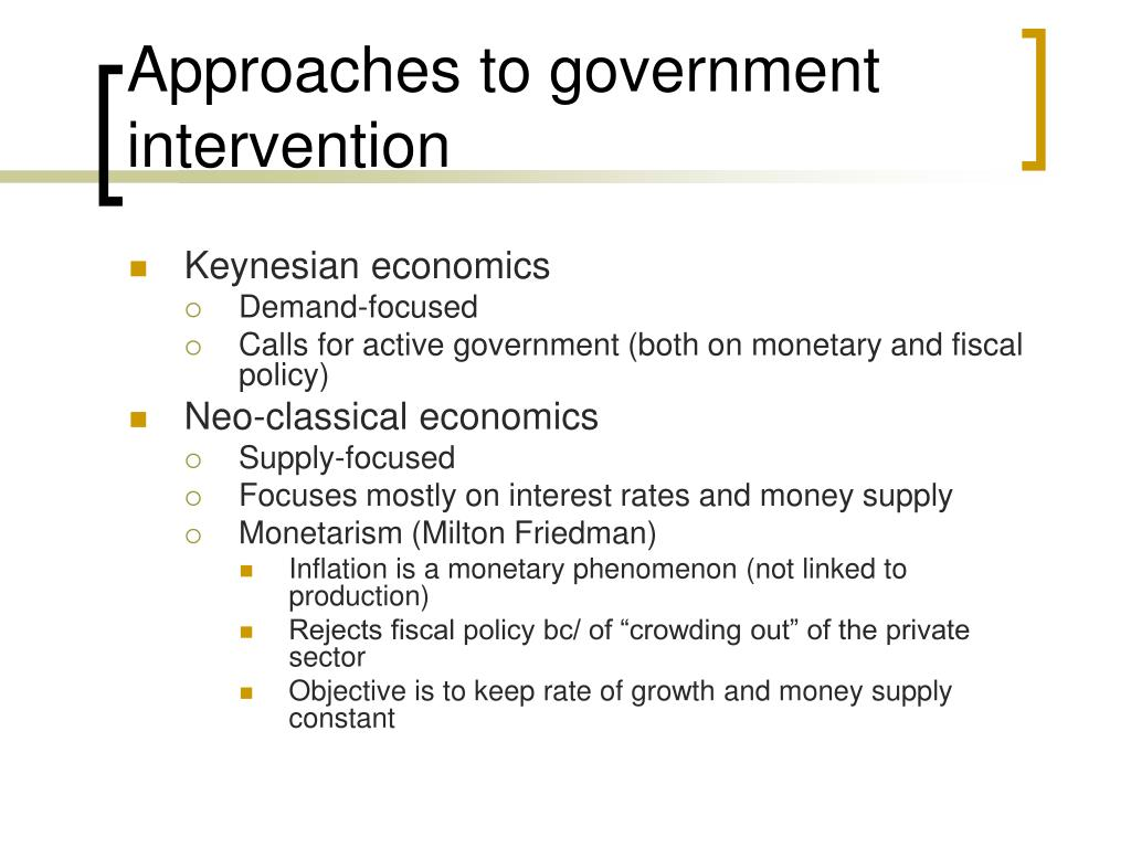 Approaches to government intervention
