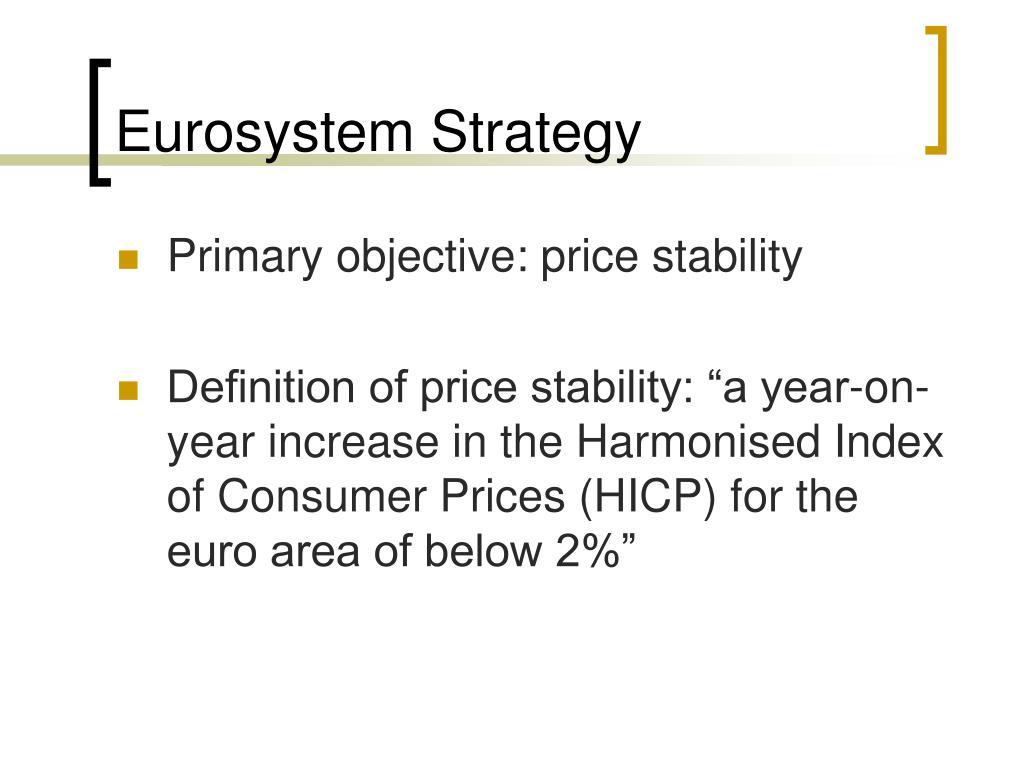 Eurosystem Strategy