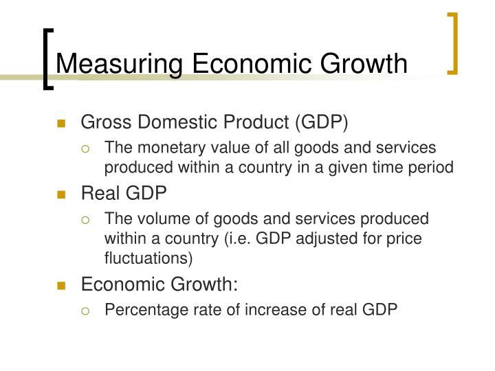 Measuring economic growth