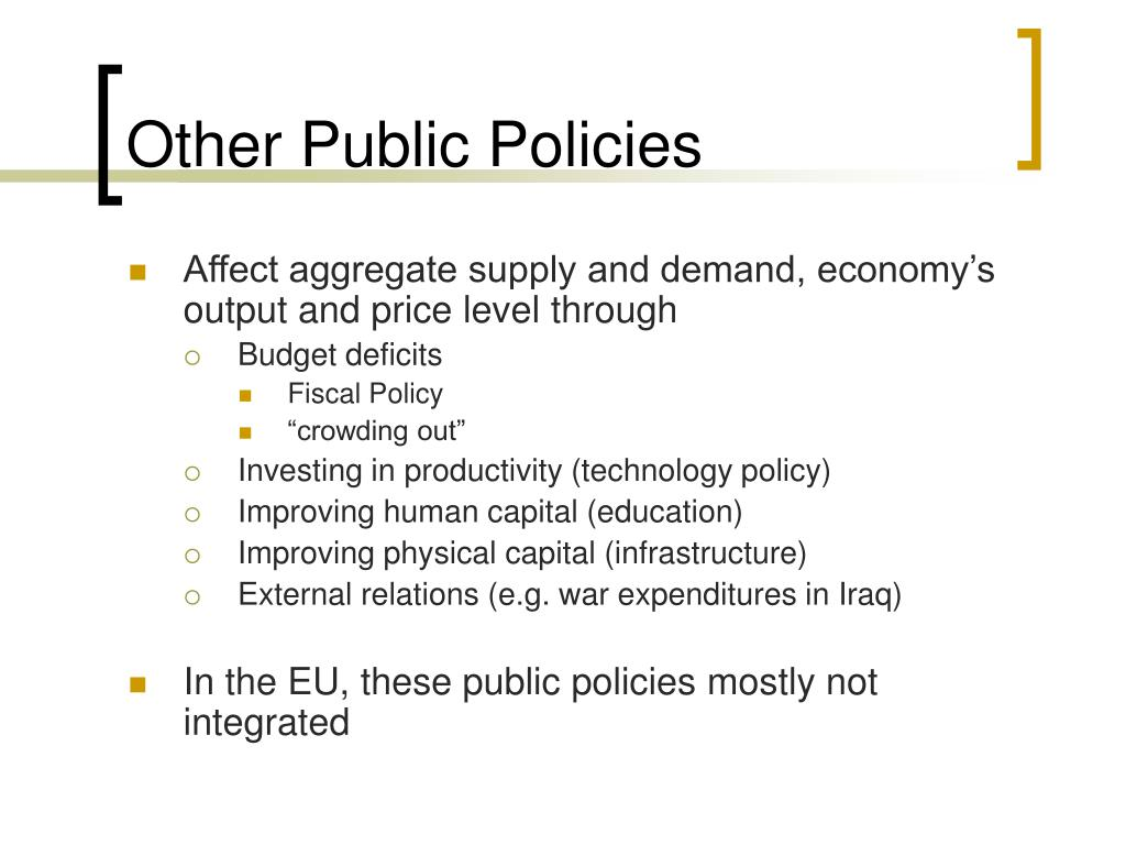 Other Public Policies