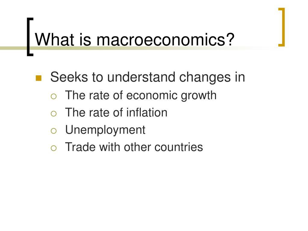 What is macroeconomics?