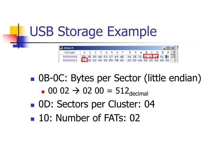 Usb storage example
