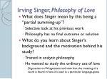 irving singer philosophy of love13