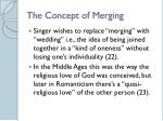 the concept of merging