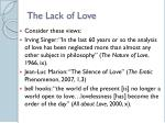 the lack of love3