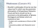 weaknesses concern 1