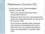 weaknesses concern 2