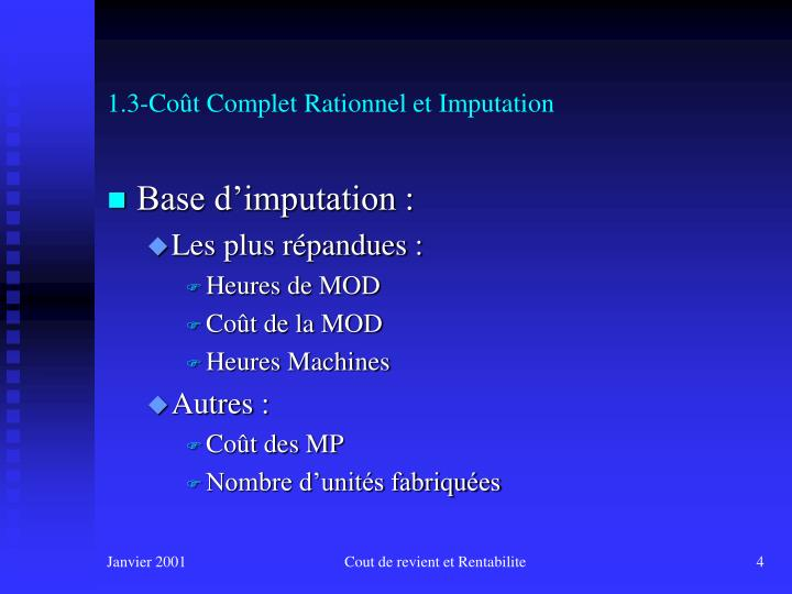 1.3-Coût Complet Rationnel et Imputation