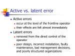 active vs latent error